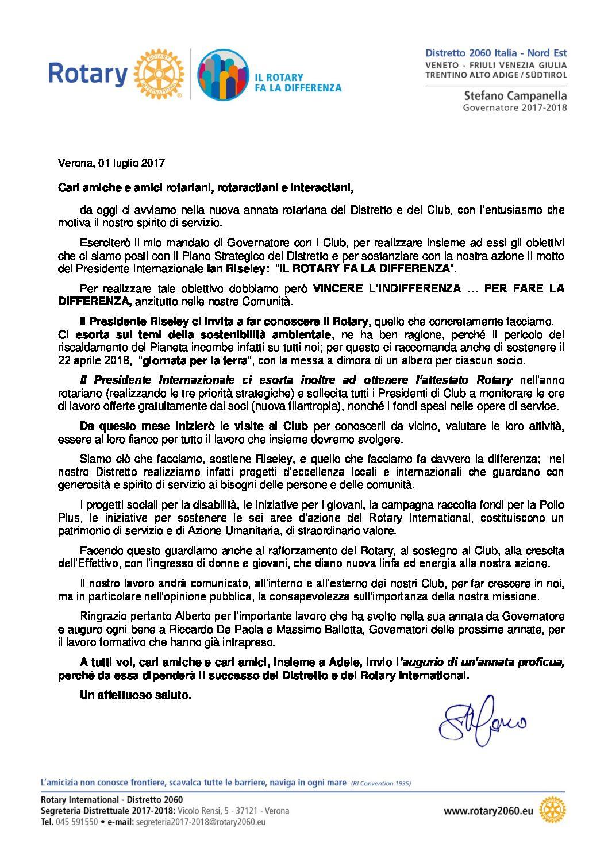 Lettere del Mese del Governatore - Luglio 2017