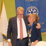 Passaggio di consegne alla presidenza del Club da Pietro Rosa Gastaldo a Angelica Peresan